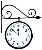 Poolmaster Dual-Sided Hanging Outdoor Clock - Black