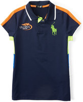 Ralph Lauren Toddler & Little Girls' US Open ThermoVent Big Pony Polo Shirt
