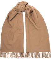 Acne Studios Canada Fringed Wool Scarf - Camel
