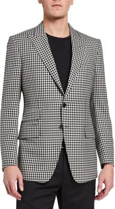 Tom Ford Men's O'Connor Fresco Damier Sport Jacket