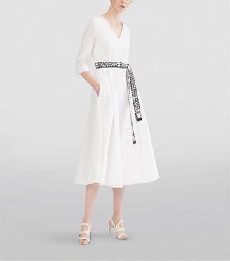 Max Mara Agrume Belted Midi Dress