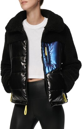 Andrew Marc Mixed Media Faux Shearling Jacket