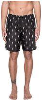 Neil Barrett Black Bolts Print Swim Short