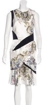 Prabal Gurung Silk Flounce-Hem Dress