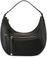 Furla Ginevra Medium Leather Hobo Bag, Onyx