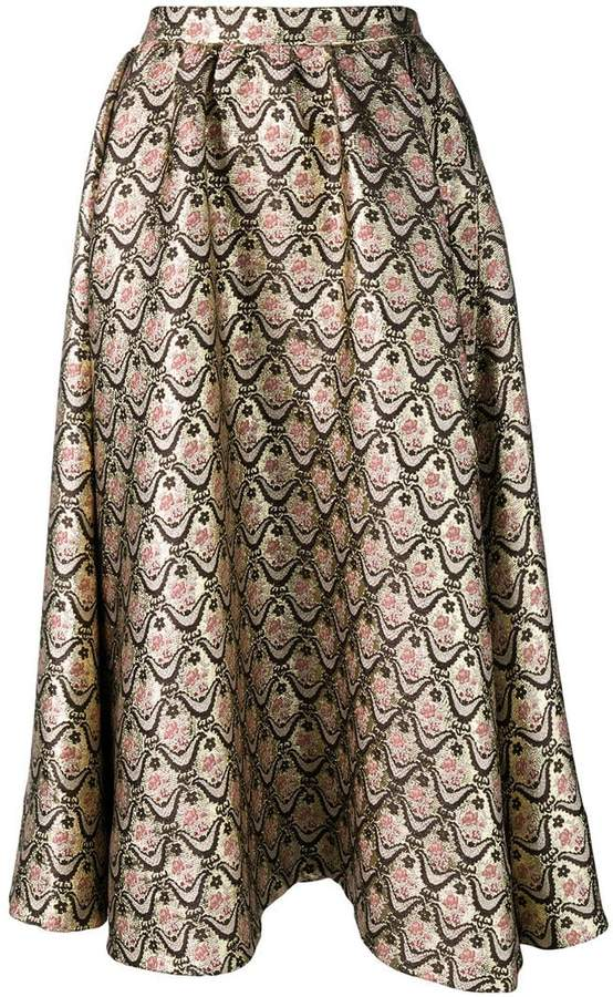 Rochas patterned loose skirt