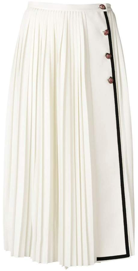Gucci pleated midi skirt