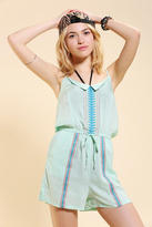 6 Shore Road Embroidered Cover-Up Romper