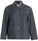 Thumbnail for your product : Lafayette 148 New York, Plus Size Wellesley Topstitched Button Jacket