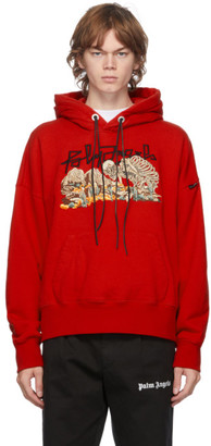 Palm Angels Red Desert Skull Hoodie