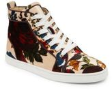 Christian Louboutin Classique Bip Bip Orlato Floral High-Top Sneakers