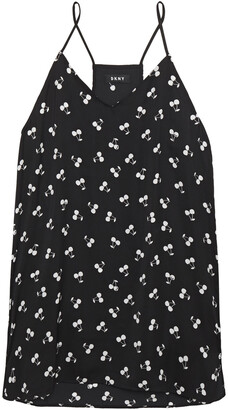 DKNY After After Party Printed Crepe De Chine Chemise