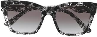 Dolce & Gabbana Eyewear Lace Effect Square Frame Sunglasses