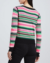 Milly Kuji Reversible Crewneck Sweater