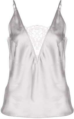 Fleur Du Mal Lace Insert Sleeveless Top