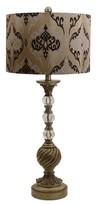 J. Hunt Damask Swirl Table Lamp - Gold (Includes CFL Bulb)