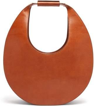 STAUD Moon Large Lizard-effect Leather Shoulder Bag - Womens - Tan