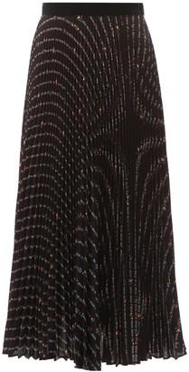 Miu Miu All Over Logo Pleated Skirt