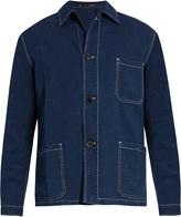 Paul Smith Contrast-stitch seersucker jacket