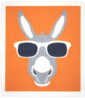 RetroKitchen Compostable Kitchen Sponge Cloth Donkey Design