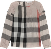 Burberry Aggy frilled cotton top 4-14 years