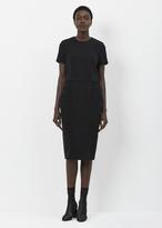 Comme des Garcons black short sleeve bubble hip dress