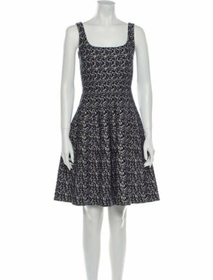 Prada Printed Mini Dress Blue