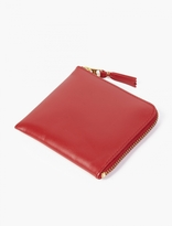 Comme des Garcons Red Small Leather Coin Wallet