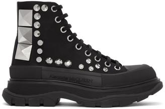Alexander McQueen Black Studded Boots