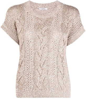 Peserico Cable Knit Top