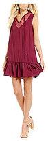 Jodi Kristopher Lace-Yoke Shift Dress
