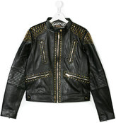 Roberto Cavalli Teen studded jacket