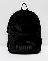 Puma Faux Fur Backpack In Black