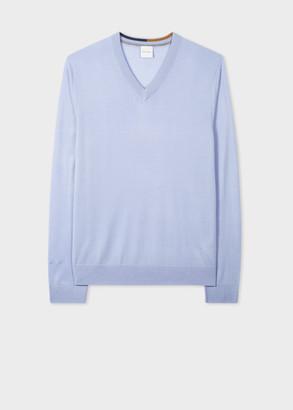 Paul Smith Men's Lilac Merino Wool V-Neck Sweater