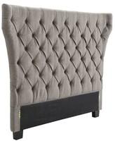 Huddersfield Queen Upholstered Panel Headboard Canora Grey