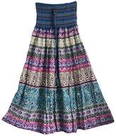 DEHANG Women's Striped Maxi Skirt