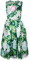 Dolce & Gabbana hydrangea print flared dress - women - Silk - 42