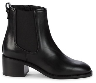 Aquatalia Jordana Stack Heel Leather Booties