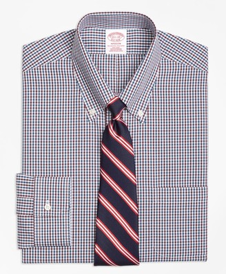 Brooks Brothers Madison Classic-Fit Dress Shirt, Non-Iron Two-Color Gingham