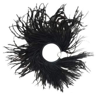 Loewe Black Leather Earrings