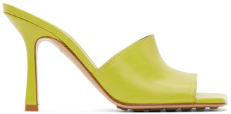 Bottega Veneta Green Stretch Heeled Sandals