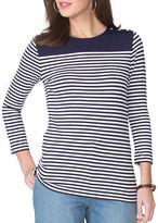 Chaps Petite Striped Jersey Shirt