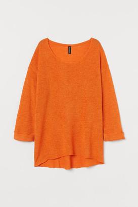 H&M Loose-knit Sweater - Orange