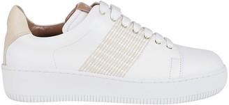 Agnona White Leather Sneakers