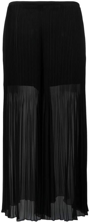 Armani Collezioni pleated detail flared pants