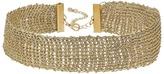 Steve Madden Gold Mesh Choker Necklace