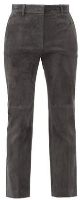 Joseph Coleman Straight-leg Suede Trousers - Dark Grey