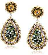 Miguel Ases Mini Teardrop Swarovski Drop Earrings