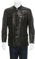 Burberry Leather Utility Jacket