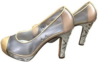 Chanel Beige Plastic Heels